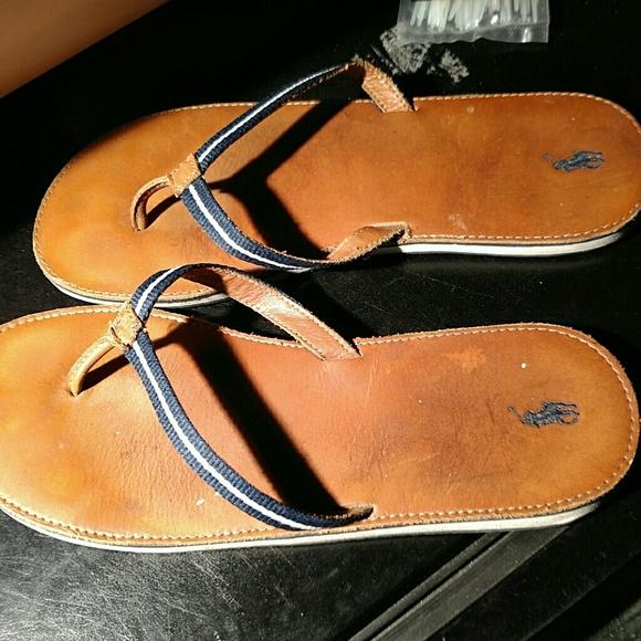Ralph Lauren Polo Leather Thongs Flip
